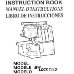 Instruction Manual: Janome Overlocker 744D
