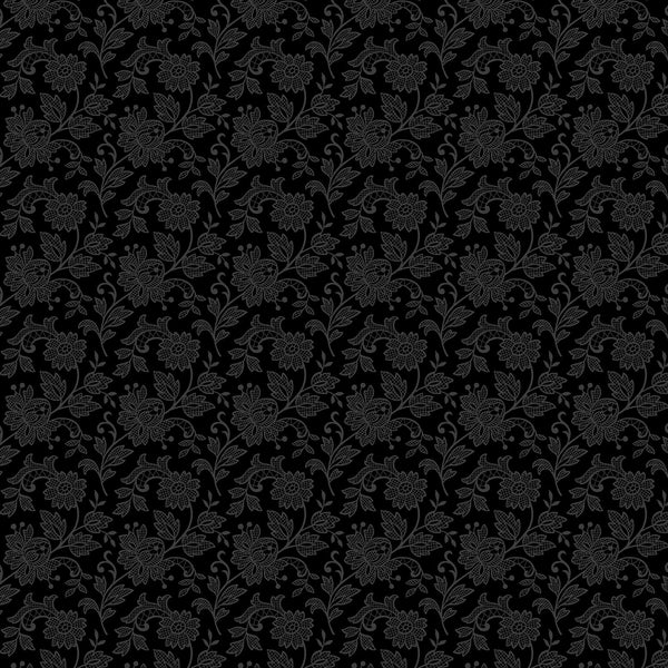 Black: Bare Essentials black on black flower
