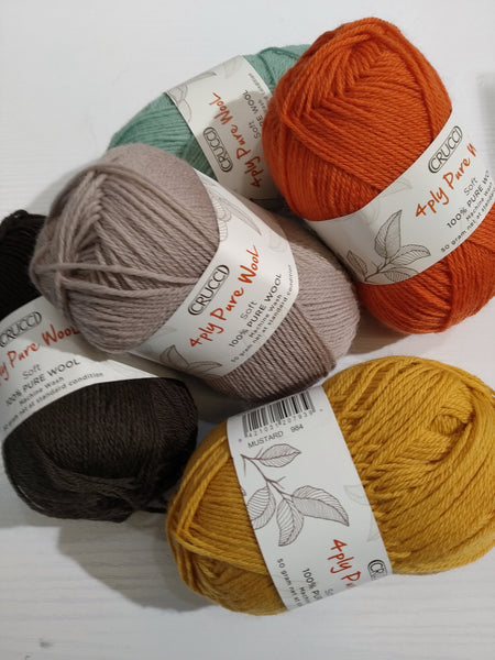 Crucci: 4ply Pure Wool