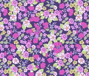 Printed Cottons: Garden Delights by Grey Sky Studio Purple days