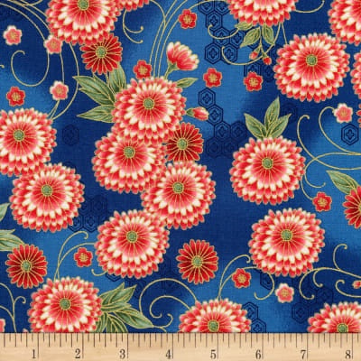 Japanese Fabric: Imperial Collection Kaufman Spring large flower