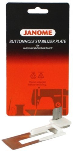 Janome Button hole stabilizer plate 9mm