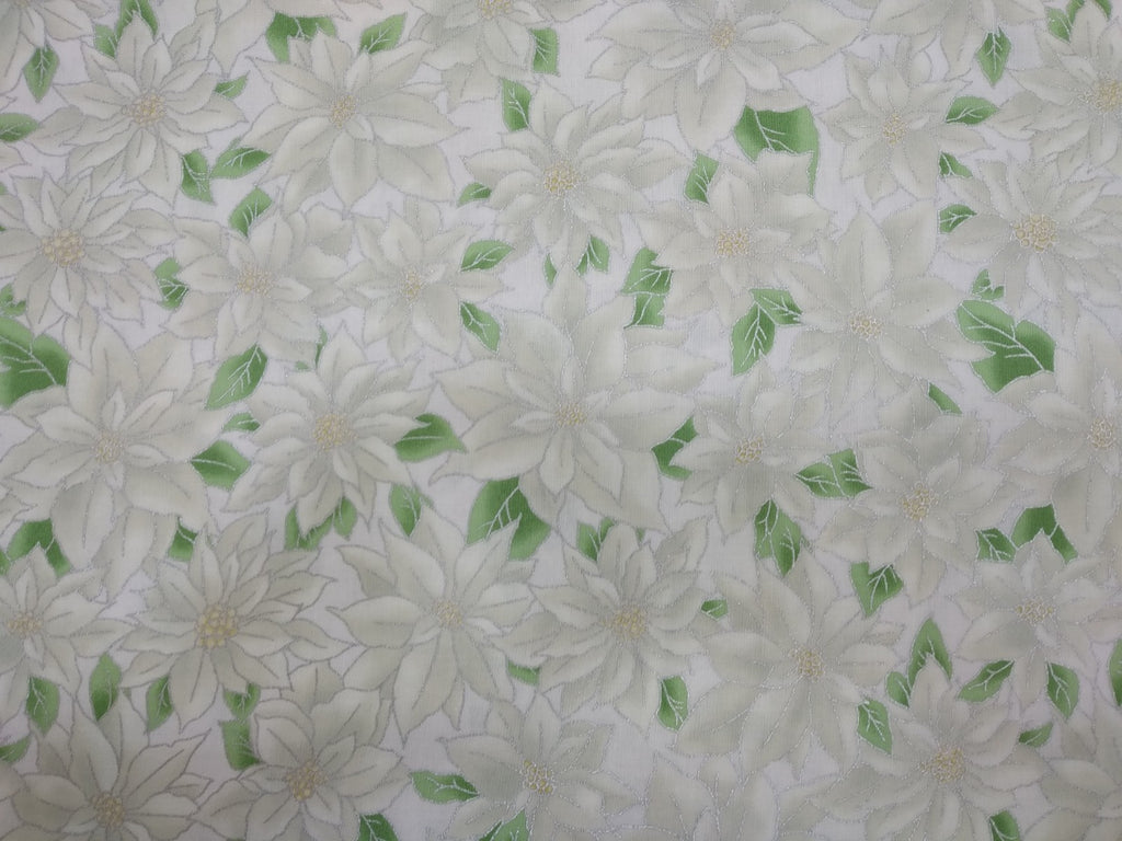 Christmas Fabric Holliday accents Poinsettia
