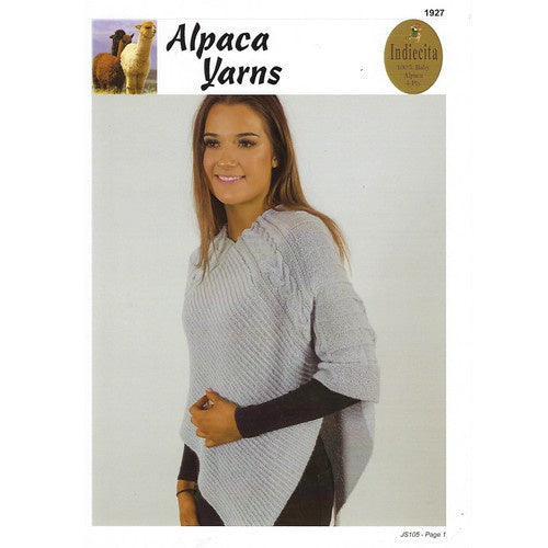 Alpaca Yarns Sleeved Poncho 1927