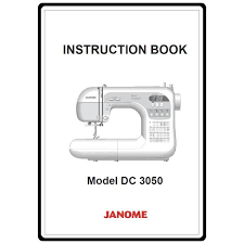 Instruction manual: Janome DC3050
