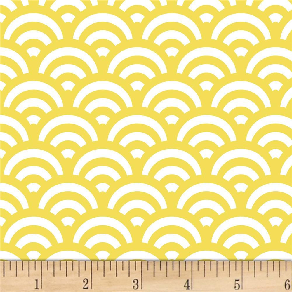 Yellow/Mustard: Duo Horizon by Stof Fabrics
