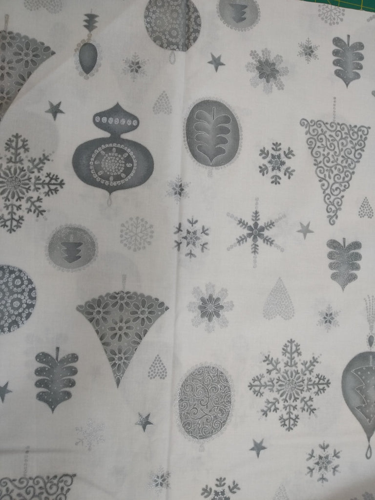 Christmas Fabrics Magical Moments White Xmas