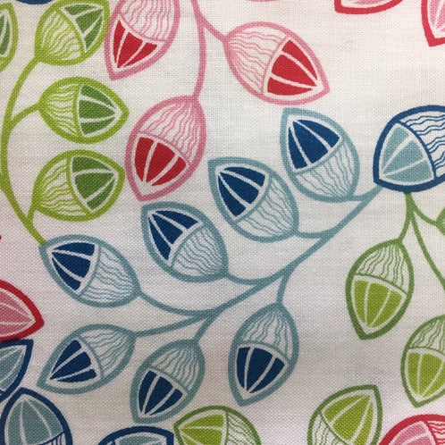 Printed Cottons: Kaleidoscope Novelty Acorns