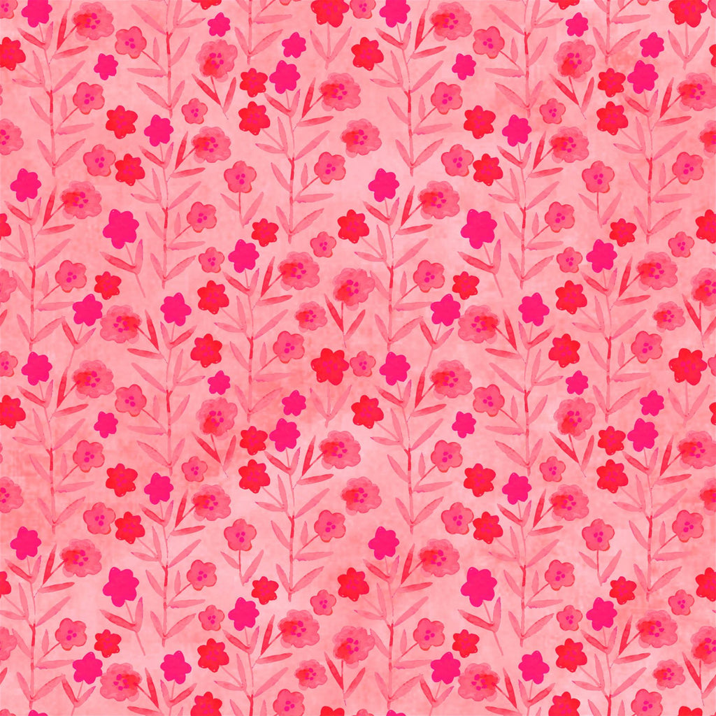 Pink/Coral: Floral Menagerie from In the Beginning