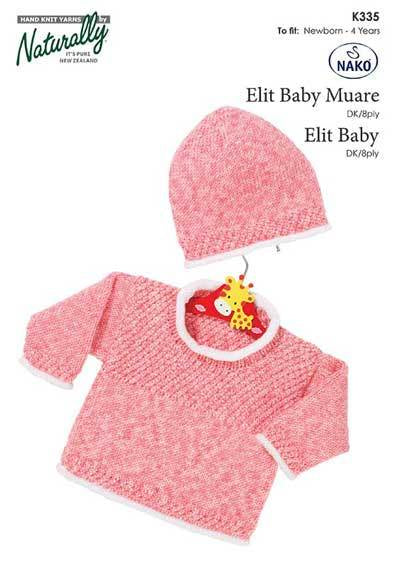 Naturally Elit Baby: Rolled Edges Sweater and Hat