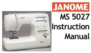 Instruction Manual: Janome MS 5027
