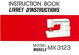 Instruction Manual: Janome MX3123