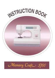 Instruction Manual: Janome MC5700