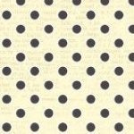 Beige/Grey: All My Heart by Iron Orchid Designs - Cream with Black Spot