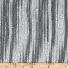 Grey: Magical Moment metallic stripe by Stof
