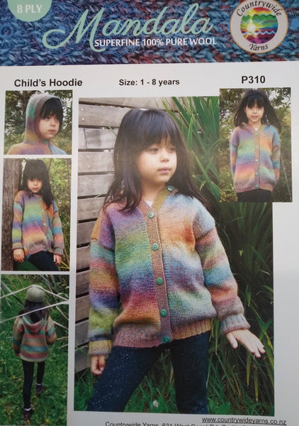 Countrywide: Mandala Child's Hoodie P310