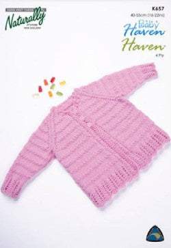 Baby Haven 4ply Cardy K657