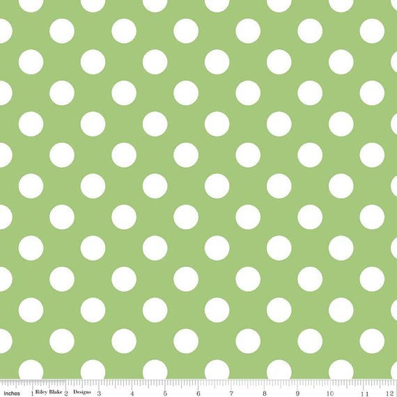 Green: Riley Blake Dots C360