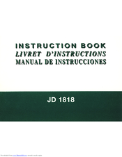 Instruction Manual: Janome JD1818