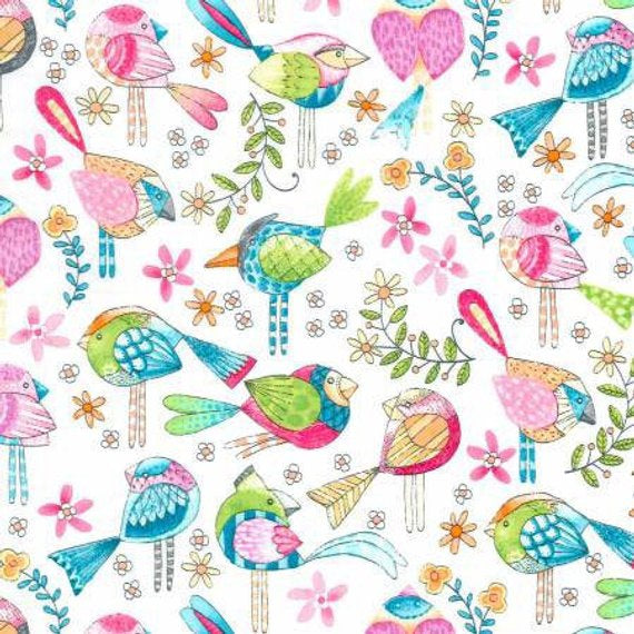 Printed Cotton: Tweet me CX7348 Michael Miller