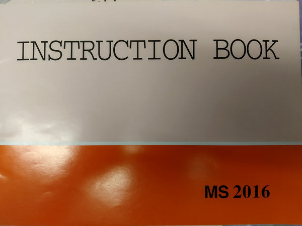Instruction Manual: Janome MS 2016