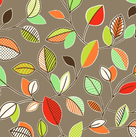 Printed Cotton: Clean living By Barbara Jones - Leaves