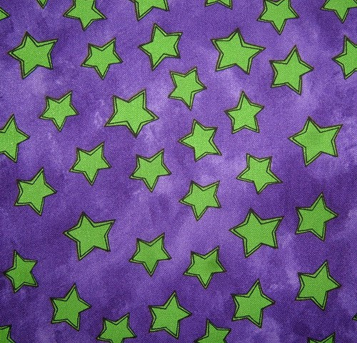 Printed Cottons: Tara's Brights Purple and Green