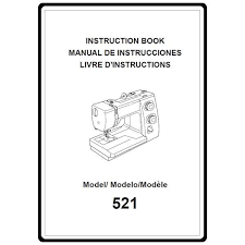 Instruction Manual: Janome 521