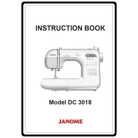 Instruction Manual: Janome DC3018