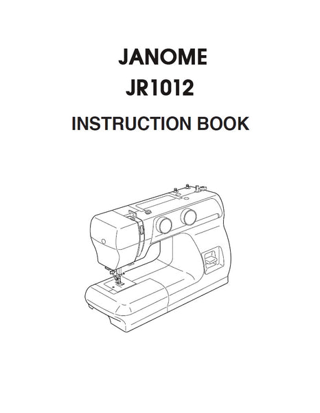 Instruction Manual: Janome JR1012