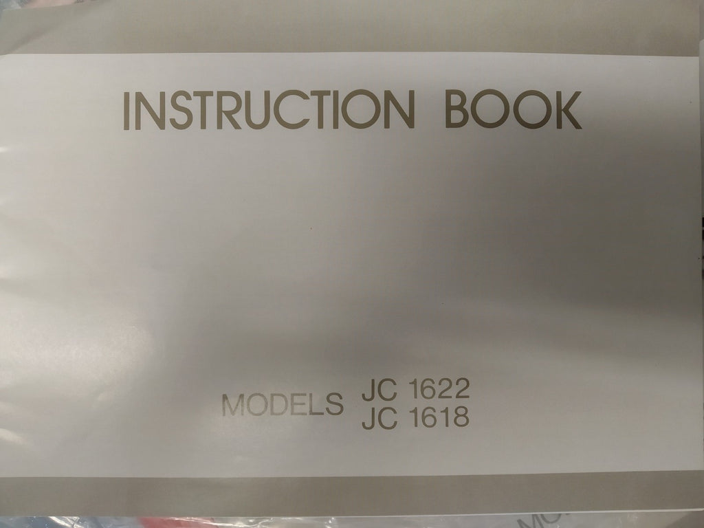 Instruction Manual: Janome JC1622 and JC1618
