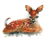Deer Watercolor Archival Print
