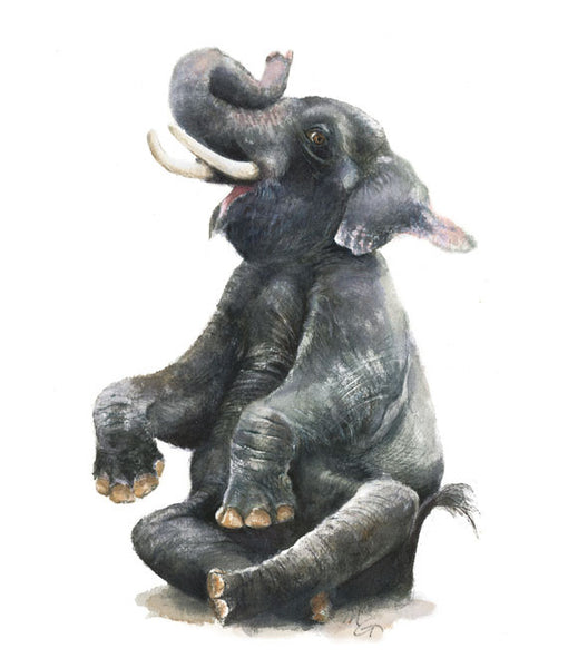 Elephant Watercolor Archival Print