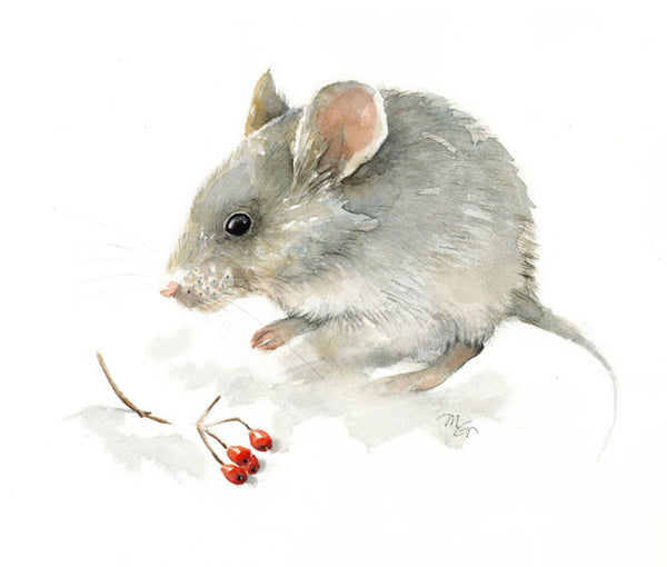 Mouse Watercolor Archival Print