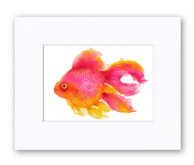 Fish Watercolor Archival Print