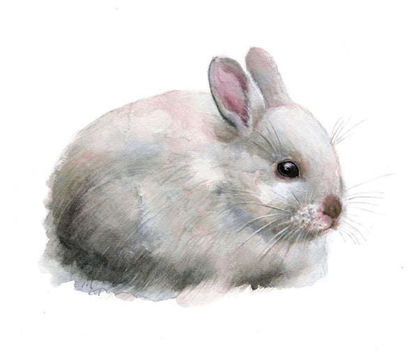 Rabbit Watercolor Archival Print