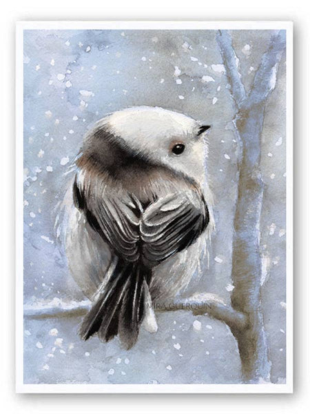Winter Bird Watercolor - Archival Print