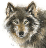 Wolf Watercolor Archival Print