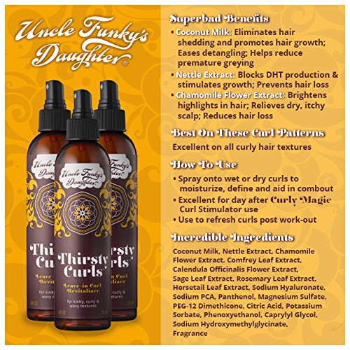 Uncle Funky's Thirsty Curls Leave-In Curl Revitalizer 8 OZ
