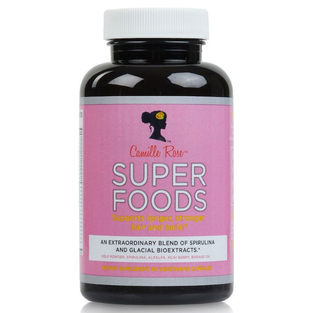 Camille Rose Super Foods Dietary Supplement for Stronger Longer Hair & Nails 60 CT