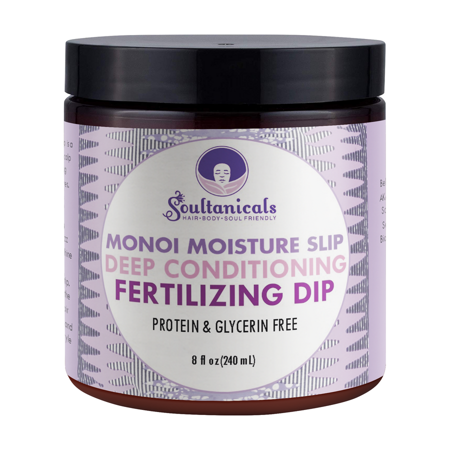 Soultanicals Monoi Moisture Slip Deep Conditioning Fertilizing Dip 8 OZ