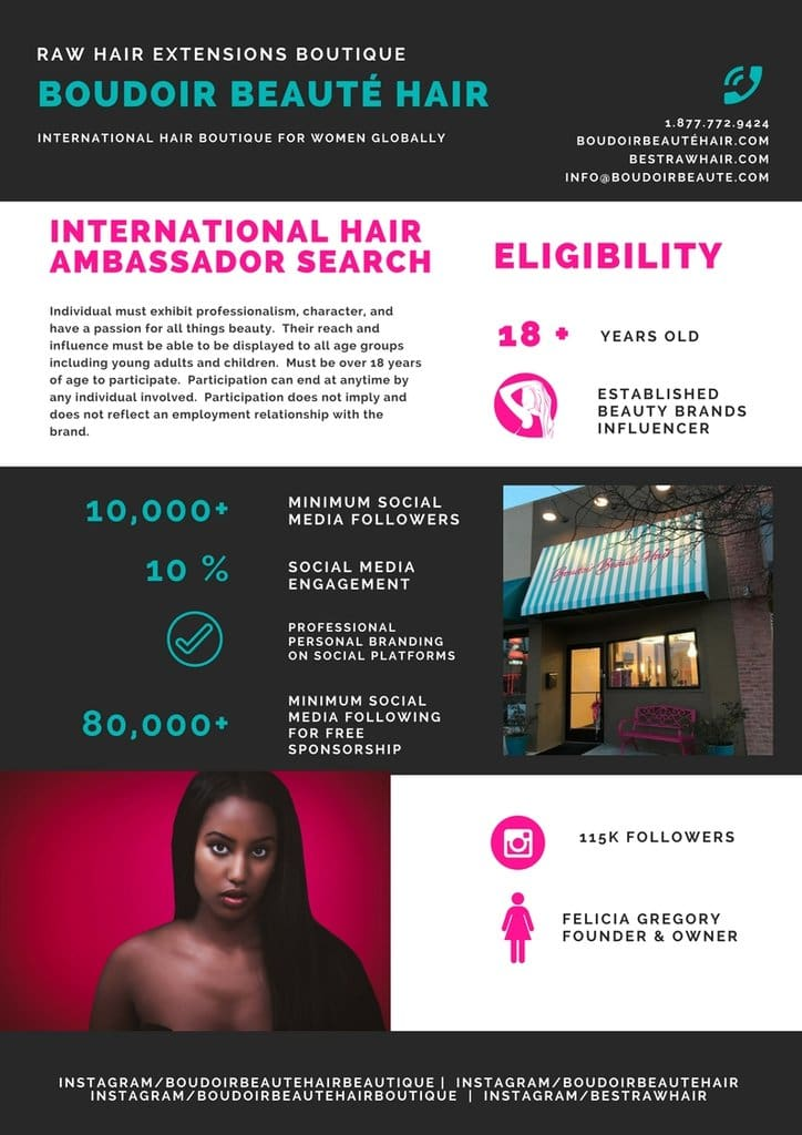 International Hair Ambassador Search