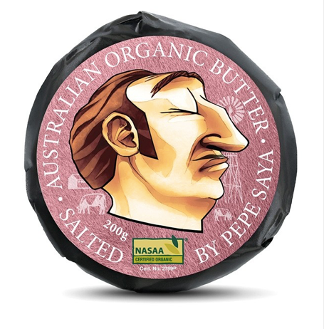 Pepe Saya Organic Salted Butter 200g (Save 10% Regular Weekly Order)