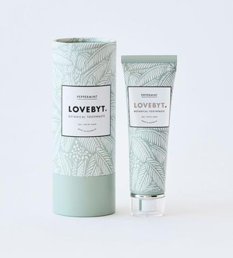 LOVEBYT - vegan - cruelty-free - Australian made natural toothpaste.