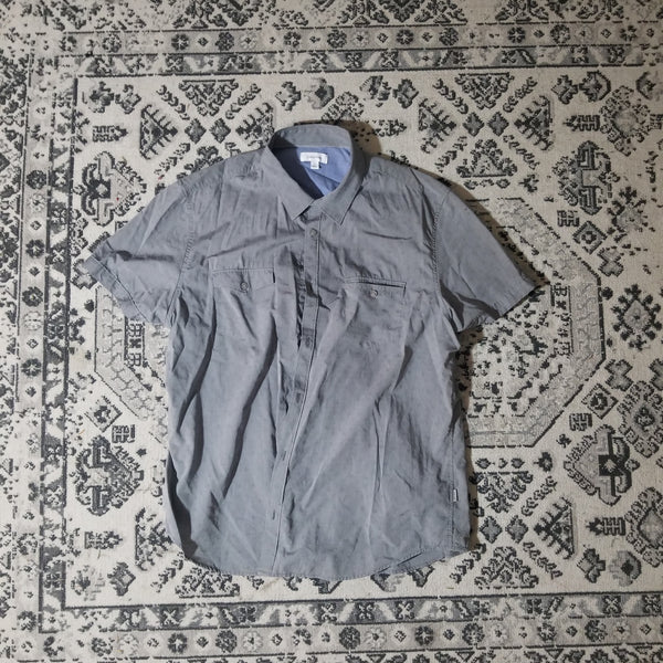 Calvin Klein Short Sleeve Button Up (Grey)