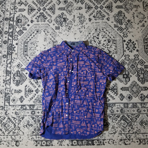 J. Crew Short Sleeve Button Up (Navy)