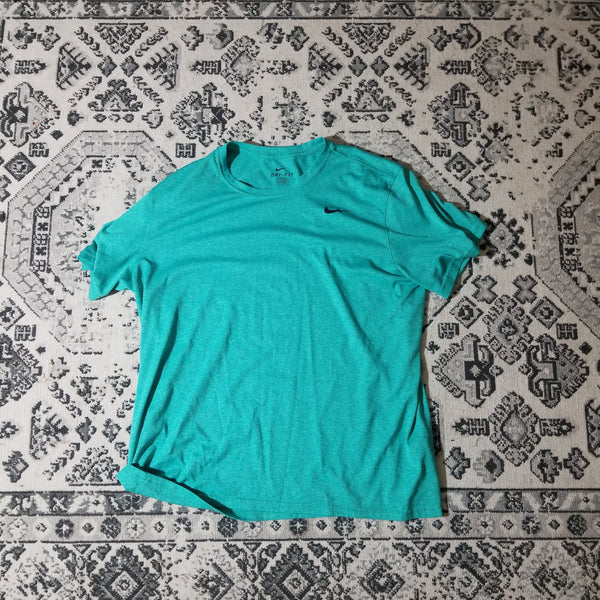 Nike V-Neck Dri-Fit T-Shirt (Teal)
