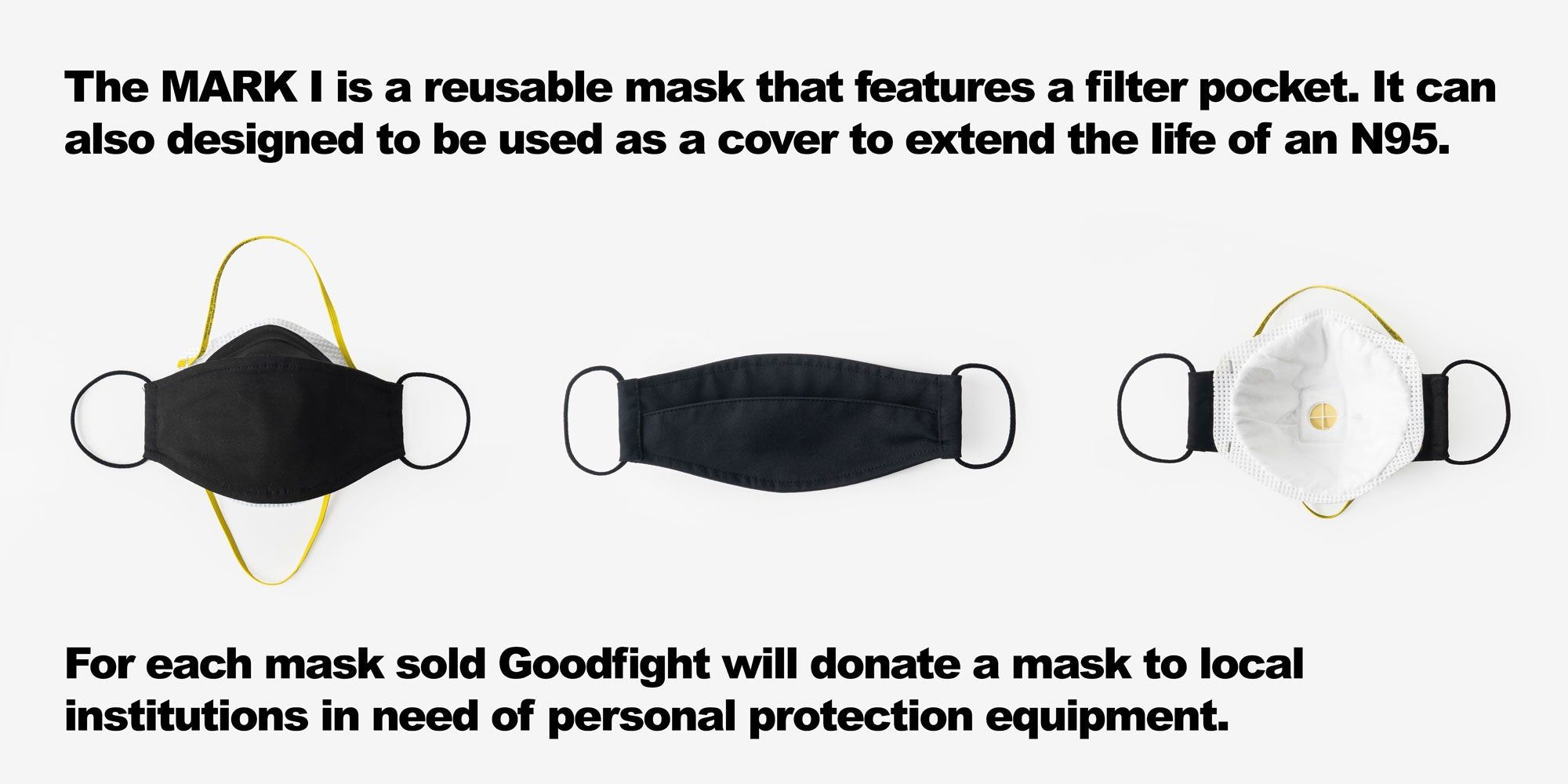 Goodfight - Join the Fight - Reusable PPE Mask & N95 Cover