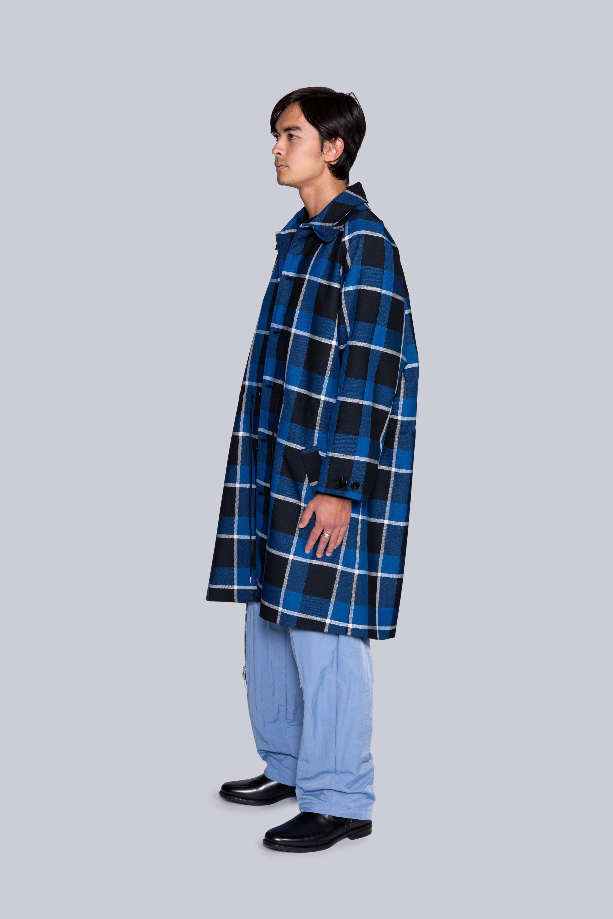 Coversall Trench Blue Plaid