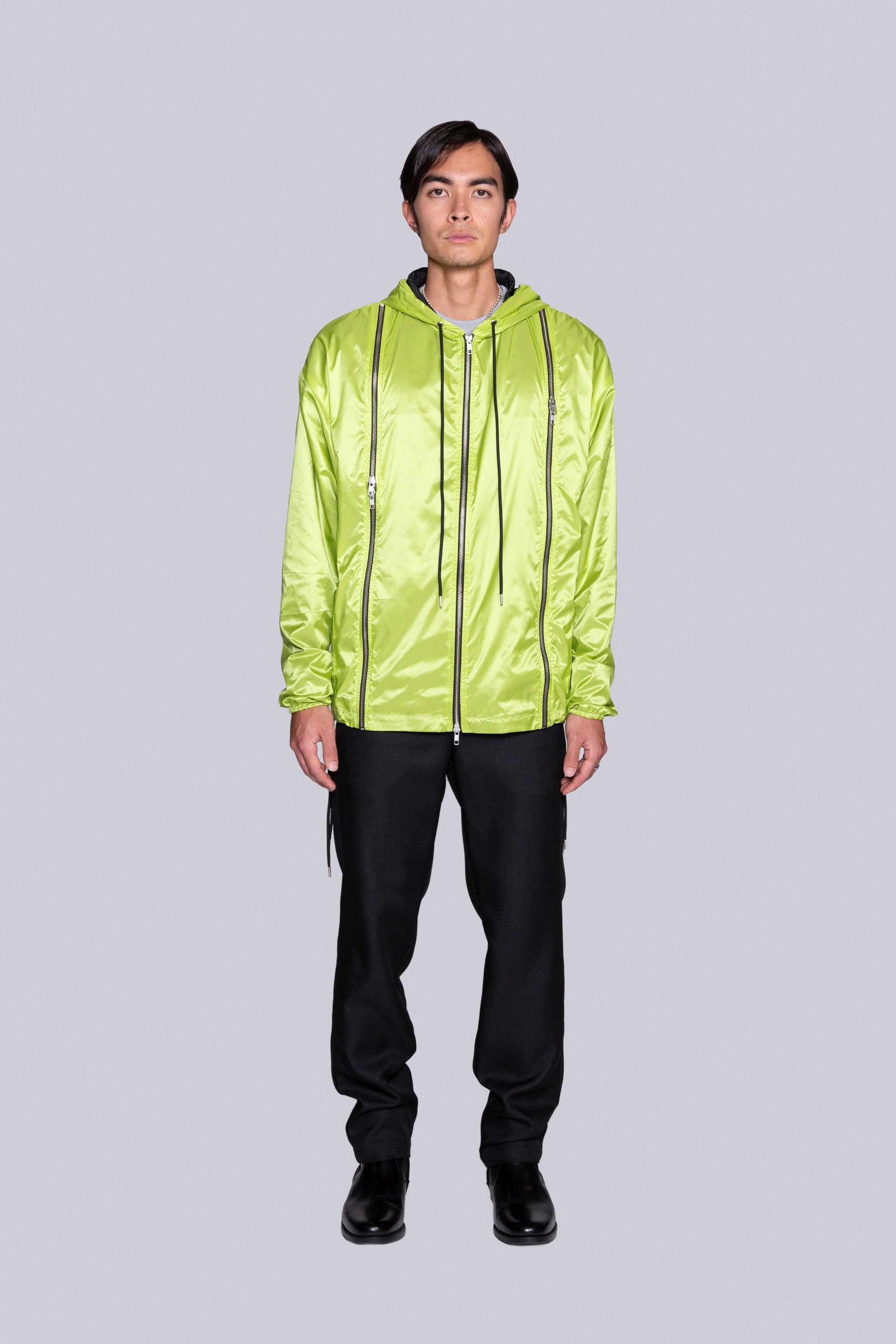 Safety-First Zip-Shell Jacket Laser Green